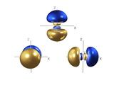 3p Electron Orbitals Reproduction photographique par Dr. Mark J.