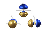 3p Electron Orbitals Premium Photographic Print by Dr. Mark J.