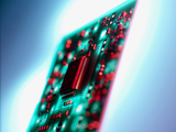 Circuit Board Photographic Print by Tek Image