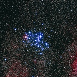 Optical Image of the Butterfly Star Cluster, M6 Photographic Print by Celestial Image