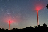 Wind Turbines Under the Milky Way Photographic Print by Laurent Laveder