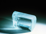 Aquamarine Crystal Photographic Print by Lawrence Lawry