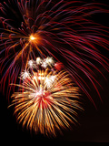 Fireworks Display Photographic Print by Brad Lewis