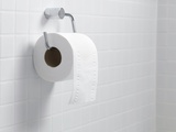 Toilet Paper Holder And Roll Photographic Print by Tek Image
