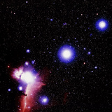 Optical Image of the Stars of Orion's Belt Photographic Print by Celestial Image
