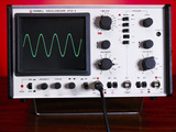Oscilloscope Wave Form Photographic Print by Andrew Lambert