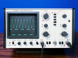 Oscilloscope Wave Forms Photographic Print by Andrew Lambert