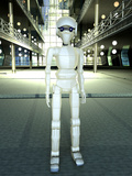 Android Robot, Artwork Photographic Print by Carl Goodman