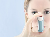 Asthma Inhaler Use Premium Photographic Print by Gavin Kingcome
