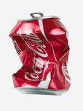 Crushed Coca Cola Can Cut-out Premium Photographic Print by Mark Sykes