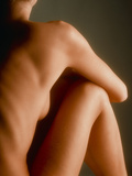 Back View of the Torso-legs of a Seated Woman Photographic Print by Phil Jude