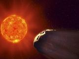 Vulcanoid Asteroid And Sun, Artwork Premium Photographic Print by Equinox Graphics