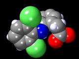 Diclofenac Molecule Photographic Print by Dr. Mark J.