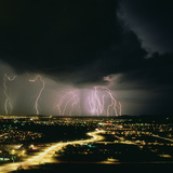 Lightning Storm Over Tucson, Arizona Photographic Print by Keith Kent