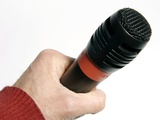 Microphone Photographic Print by Johnny Greig