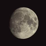 Waxing Gibbous Moon Papier Photo par Eckhard Slawik