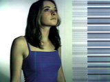 Woman And Bar Code Photographic Print by Neal Grundy
