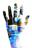 Technological Hand Photographic Print by Neal Grundy