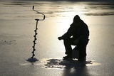 Ice Fishing, Sweden Photographic Print by Bjorn Svensson