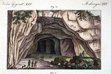 1770 Maastricht Mosasaur Cave Entrance Prints by Paul Stewart