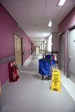 Hospital Cleaning Trolley Print by Lth Nhs Trust