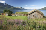 Turf Roofed Wooden Huts, Norway Photographic Print by Bjorn Svensson