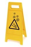Snow Hazard Warning Sign Prints by Lth Nhs Trust