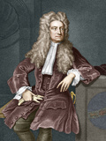 Sir Isaac Newton, British Physicist Reproduction photographique par Sheila Terry