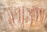 Cave Painting: Kondusi Stick Dance, Tanzania Fotografisk tryk af Sinclair Stammers