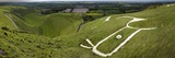 The Uffington Bronze Age White Horse Wide Photographic Print by Paul Stewart