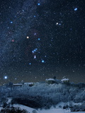 Winter Sky with Orion Constellation Premium Photographic Print by Eckhard Slawik