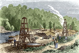 Oil Wells, 1861 Photographic Print by Sheila Terry
