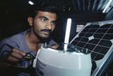 Solar Lantern Manufacture Photographic Print by Volker Steger
