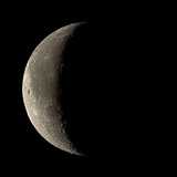Waning Crescent Moon Photographic Print by Eckhard Slawik