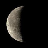 Waning Crescent Moon Papier Photo par Eckhard Slawik