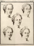 1749 Human Emotions And Expression Buffon Print by Paul Stewart