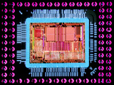 Macrophoto of An 486 Computer Silicon Chip Photographic Print by Geoff Tompkinson