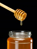 Honey Jar And Dipper Premium Photographic Print by Mark Sykes
