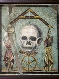 Roman Memento Mori Mosaic Photographic Print by Sheila Terry