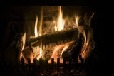 Burning Wood on An Open Fire Photographic Print by Sheila Terry