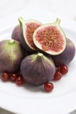 Whole And Halved Figs Photographic Print by Jon Stokes
