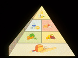 Artwork of a Food Pyramid for Good Nutrition Prints by David Gifford