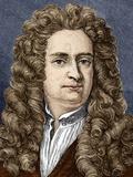 Isaac Newton, English Physicist Foto von Sheila Terry - sheila-terry-isaac-newton-english-physicist