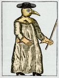 Plague Doctor, France, 18th Century Print by Sheila Terry