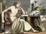 Aristotle Studying In His Youth Poster by Sheila Terry