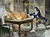 Newton's Opticks Notes In Flames, 1692 Photo by Sheila Terry