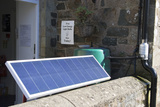Solar Panel At the ECO Centre, Wales Prints by Sheila Terry