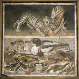 Wildlife Scenes, Roman Mosaic Photographic Print by Sheila Terry