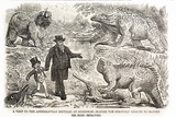 1855 Punch Dinosaurs Crystal Palace Photographic Print by Paul Stewart