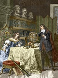 Rene Descartes And Queen Christina Prints by Sheila Terry